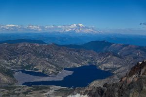 View from the Mt. St. Helens Summit, Washington, 2016