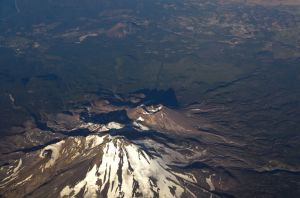 flying into Portland, Oregon, 2013