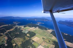 Flying to Orcas Island, Washington, 2017
